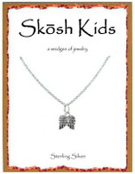 Skosh Children's Tiny Angel Wings Necklace