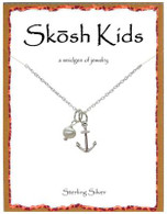Skosh Children's Anchor with Pearl Necklace