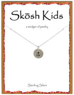 Skosh Children's Tiny Disc with Anchor Necklace