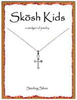 Skosh Children's Small Budded Cross Nacklace