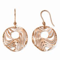 Leslie's Sterling Silver Rose-Tone 18k Flash Plated Earrings