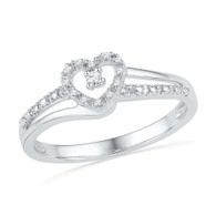 0.06CTW DIAMOND FASHION HEART RING