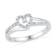 0.06CTW DIAMOND FASHION HEART RING
