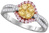 0.88CTW NATURAL YELLOW DIAMOND FASHION RING