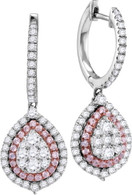 1.19CTW PINK DIAMOND FASHION EARRING