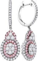 1.41CTW PINK DIAMOND FASHION EARRING