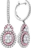 1.41CTW PINK DIAMOND FASHION EARRING