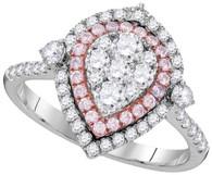 1.08CTW PINK DIAMOND FASHION RING