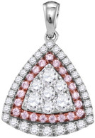1.00CTW PINK DIAMOND FASHION PENDANT