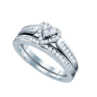 0.50CT DIAMOND HEART BRIDAL SET