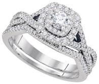 0.75CTW DIAMOND 0.20CT-CRD BRIDAL SET
