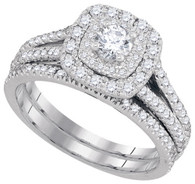 1.00CTW DIAMOND 0.25CT-CRD BRIDAL SET