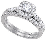 1.01CTW DIAMOND 0.33CT-CRD BRIDAL SET