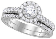 1.00CTW DIAMOND 0.33CT-CRD BRIDAL SET