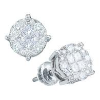 0.50CTW PRINCESS ROUND DIAMOND LADIES SOLIEL EARRINGS