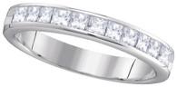 0.75CTW PRINCESS DIAMOND MACHINE SET BAND