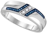 0.20CTW BLUE DIAMOND FASHION RING