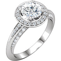 1/3 CTW Diamond Semi-mount Engagement Ring