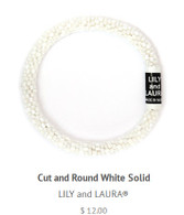 Cut and Round White Solid