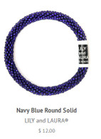 Navy Blue Round Solid