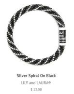 Silver Spiral on Black