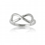 Silver Infinity Ring- Plain