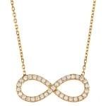 Gold Plated Infinity Necklace- CZ