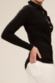 Women's Black Bamboo Polo Shirt