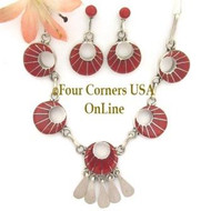 Coral Inlay Jewelry Set