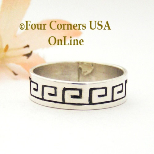 size 10 12 sterling silver spirals ring native american navajo peggy skeets nar - Native American Wedding Rings
