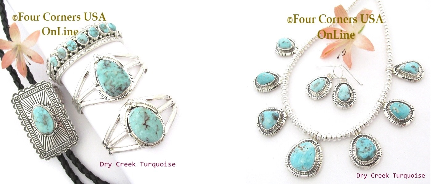Dry Creek Turquoise Jewelry Collection - Quality Stones - Premiere Selections - Four Corners USA OnLine