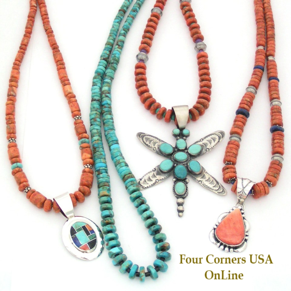 Graduated turquoise bead strands four corners usa online for Jewelry stores in usa
