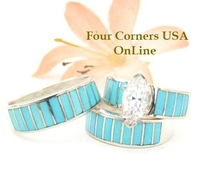 Custom Order Your Ring Size Native American Navajo Wedding Bands Bridal Engagement Ring Sets Ella Cowboy