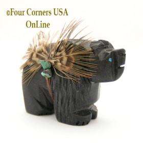 Carved Bear Fetish Native American Navajo Artisan Phil Corley NAM-1303-2 Four Corners USA OnLine