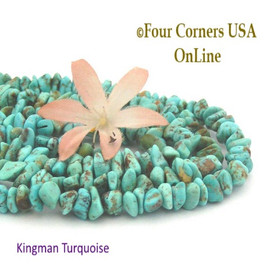 8mm Blue Green Kingman Turquoise Nugget Bead Strands Group 22 Four Corners USA OnLine Jewelry Making Supplies