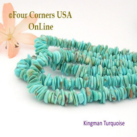 6mm Blue Kingman Turquoise Nugget Bead Strands Group 23 Four Corners USA OnLine Jewelry Making Supplies
