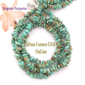 5mm Green Blue Kingman Turquoise Nugget Bead Strands Group 25 Four Corners USA OnLine Jewelry Making Supplies