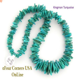 17mm Graduated FreeForm Slice Kingman Turquoise Beads Designer 16 Inch Strand Jewelry Making Supplies GFF25