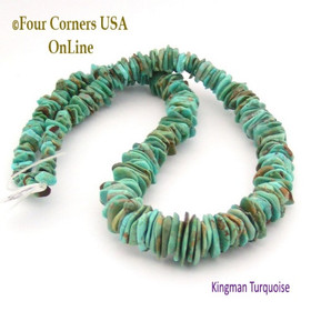 13mm Graduated FreeForm Slice Kingman Turquoise Beads Designer 16 Inch Strand Jewelry Making Supplies GFF26