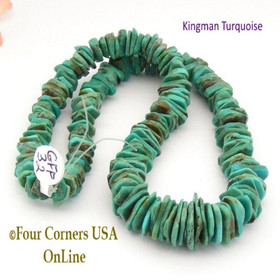 14mm Graduated FreeForm Slice Kingman Turquoise Beads Designer 16 Inch Strand Jewelry Making Supplies GFF32