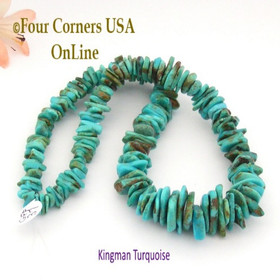 18mm Graduated FreeForm Slice Kingman Turquoise Beads Designer 16 Inch Strand Jewelry Making Supplies GFF37