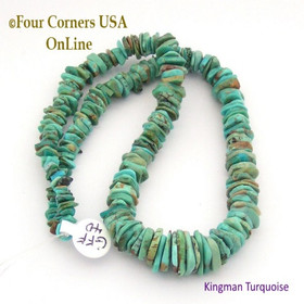 11mm Graduated FreeForm Slice Kingman Turquoise Beads Designer 16 Inch Strand Jewelry Making Supplies GFF40 Four Corners USA