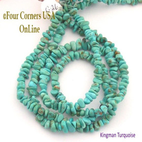 6mm Teal Blue Kingman Turquoise Nugget Bead Strands Group 26 Four Corners USA OnLine Jewelry Making Supplies