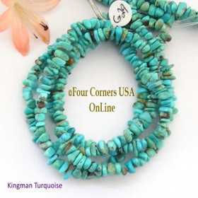 6mm Blue Kingman Turquoise Nugget Bead Strands Group 29 Four Corners USA OnLine Jewelry Making Supplies