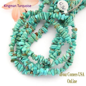 6mm Blue Green Kingman Turquoise Nugget Bead Strands Group 30 Four Corners USA OnLine Jewelry Making Supplies