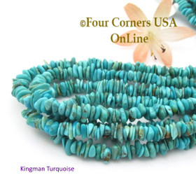 5mm Blue Green Kingman Turquoise Nugget Bead Strands Group 34 Four Corners USA OnLine Southwest Jewelry Making Supplies
