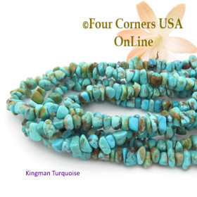 5mm Blue Green Kingman Turquoise Nugget Bead Strands Group 35 Four Corners USA OnLine Southwest Jewelry Making Supplies