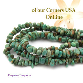 4mm Coppery Green Kingman Turquoise Nugget Bead Strands Group 36 Four Corners USA OnLine Southwest Jewelry Making Supplies
