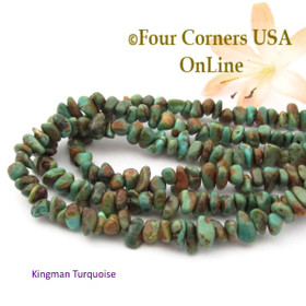 5mm Green Coppery Kingman Turquoise Nugget Bead Strands Group 37 Four Corners USA OnLine Southwest Jewelry Making Supplies