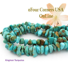 7mm Blue Teal Kingman Turquoise Nugget Bead Strands Group 38 Four Corners USA OnLine Southwest Jewelry Making Supplies